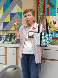 Art Cloth interfaced bag by Nancy