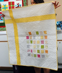 Candy pack baby quilt by Michelle